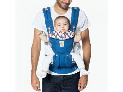 Эргономический Эрго рюкзак Ergobaby Ergo baby OMNI 360 Hello Kitty Синий (без барсетки) купить в интернет-магазине «Берегиня» Украина