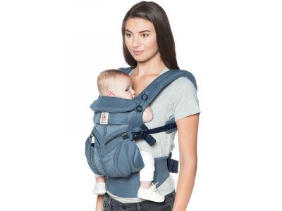 Эргономический Эрго рюкзак Ergobaby Omni 360 Baby Carrier All-In-One Cool Air Oxford Blue (без барсетки) купить в интернет-магазине «Берегиня» Украина