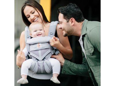 Эргономический Эрго рюкзак Ergobaby Omni 360 Baby Carrier All-In-One Cool Air Pearl Grey (без барсетки) купить в интернет-магазине «Берегиня» Украина