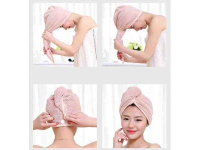 Полотенце Чалма, Тюрбан для сушки волос из мягкой микрофибры купить в интернет-магазине «Берегиня» Украина
