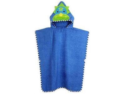 Детское полотенце-накидка пончо (аналог Skip Hop) с капюшоном - Динозавр купить в интернет-магазине «Берегиня» Украина
