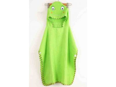 Детское полотенце-накидка пончо (аналог Skip Hop) с капюшоном - Лягушка купить в интернет-магазине «Берегиня» Украина
