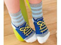 Детские носочки из хлопка и шерсти, антискользящие носочки