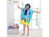 Халаты и пончо-полотенце детские